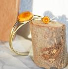 Bague+bracelet caramel